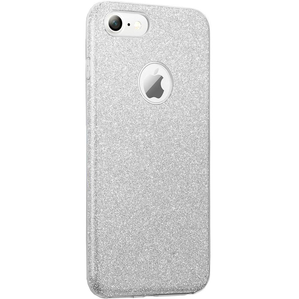 Husa Capac spate Shine Argintiu Apple iPhone 7, iPhone 8
