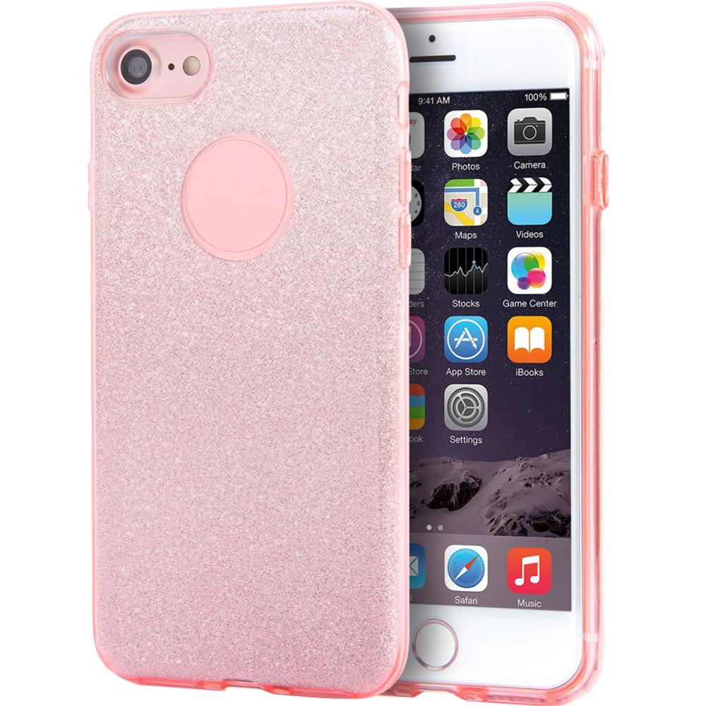 Husa Capac spate Shine Roz Apple iPhone 7, iPhone 8