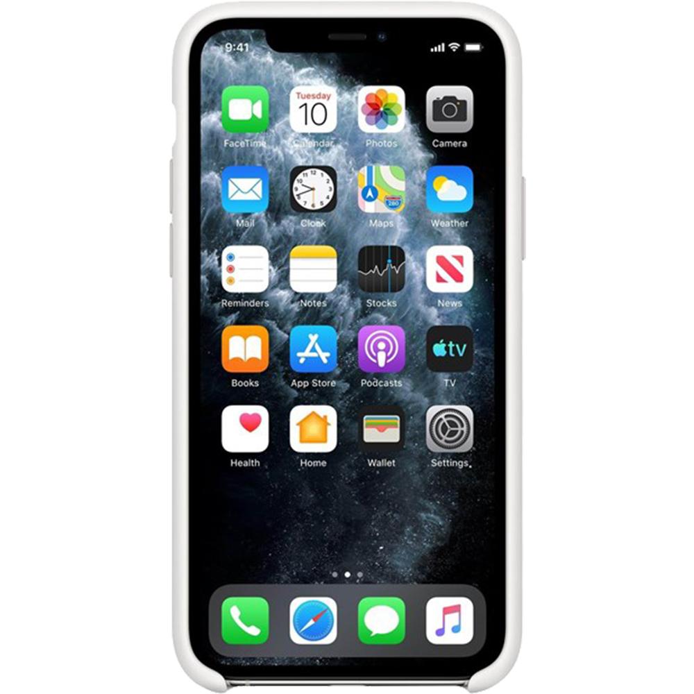 Husa originala din Silicon Alb pentru APPLE iPhone 11 Pro