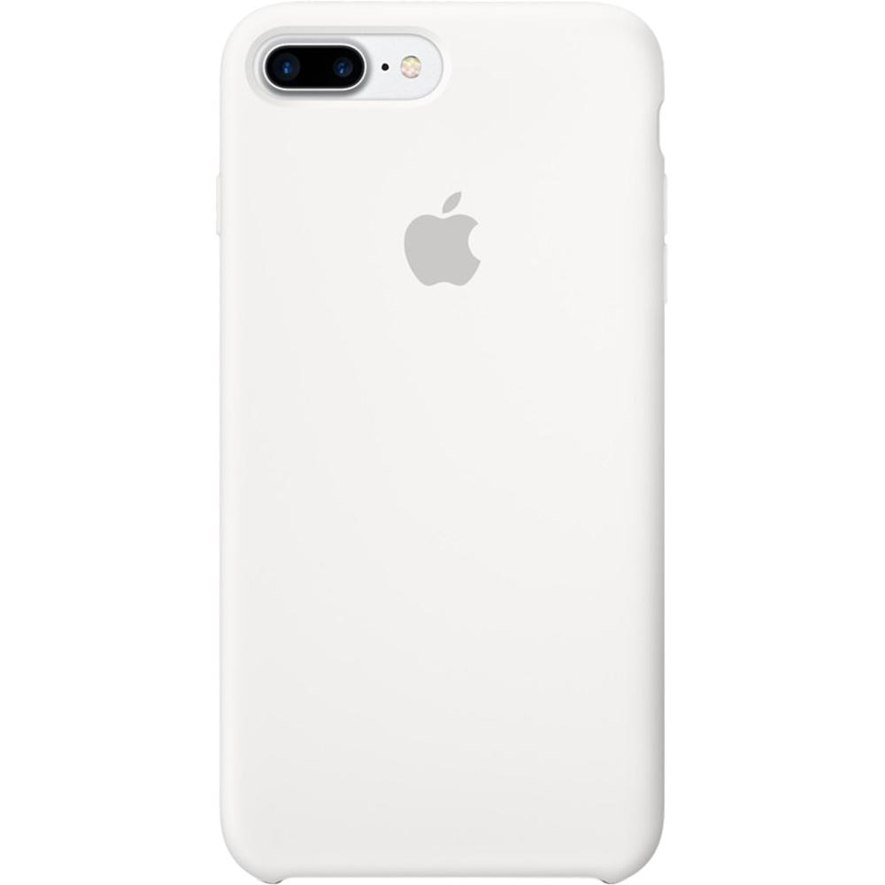 Husa originala din Silicon Alb pentru Apple iPhone 7 Plus si iPhone 8 Plus