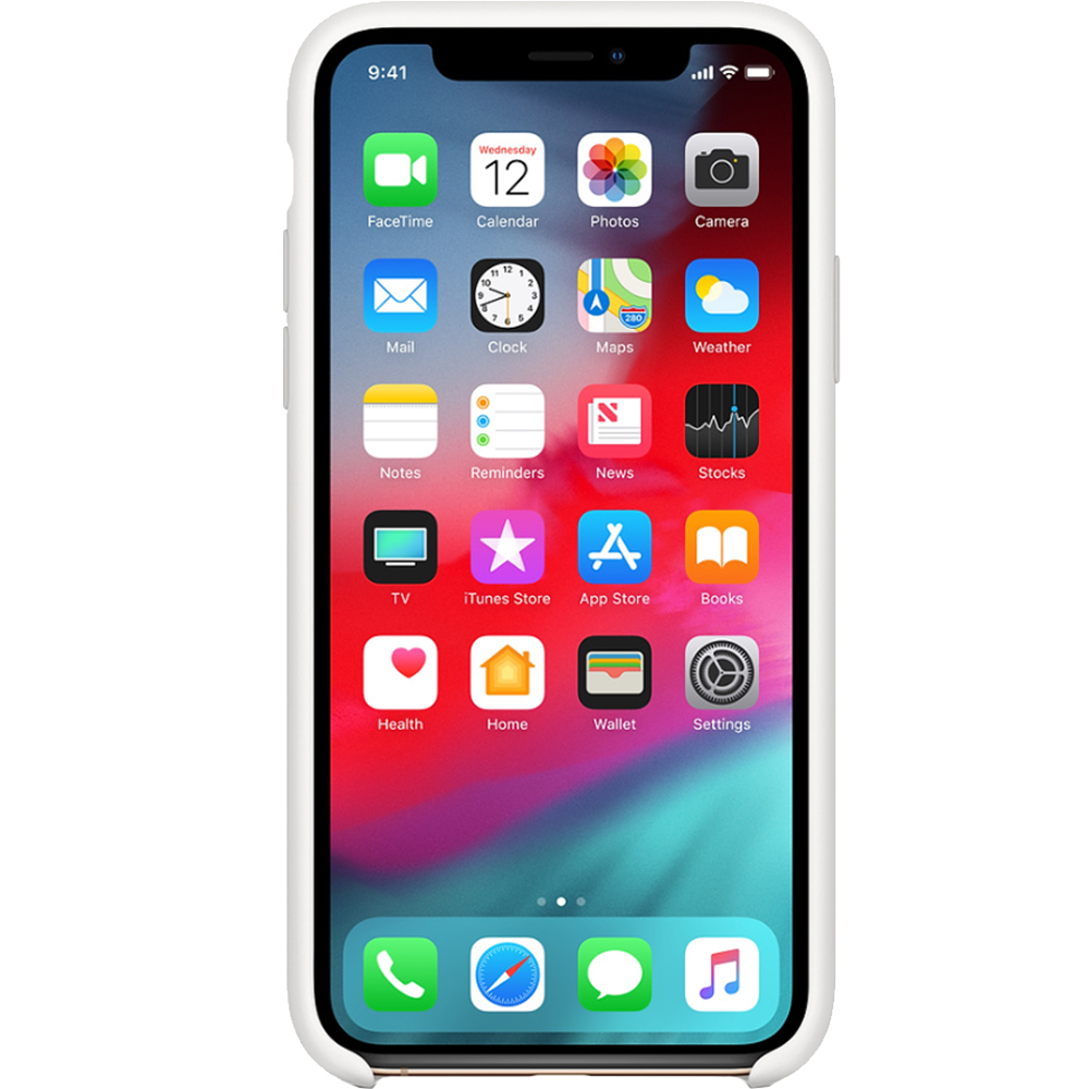 Husa Capac Spate Silicon Alb APPLE iPhone Xs