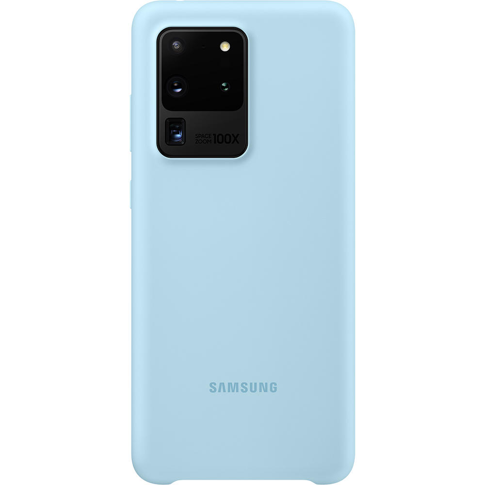 Husa Capac Spate Silicon Albastru SAMSUNG Galaxy S20 Ultra