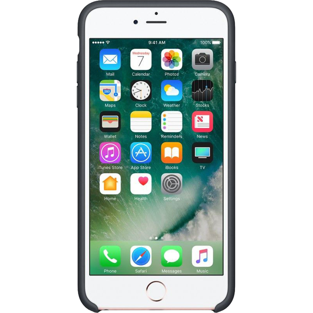 Husa Capac Spate Silicon Charcoal Gri APPLE iPhone 6s Plus