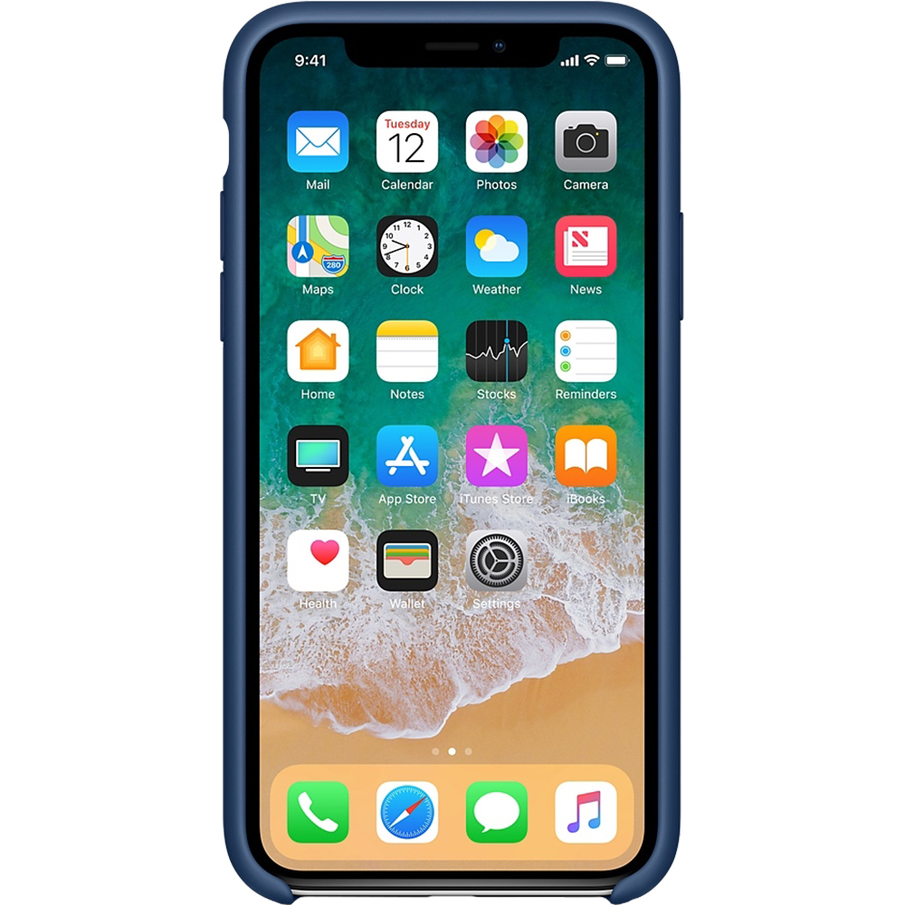 Husa originala din Silicon Cobalt Albastru pentru APPLE iPhone X si iPhone Xs