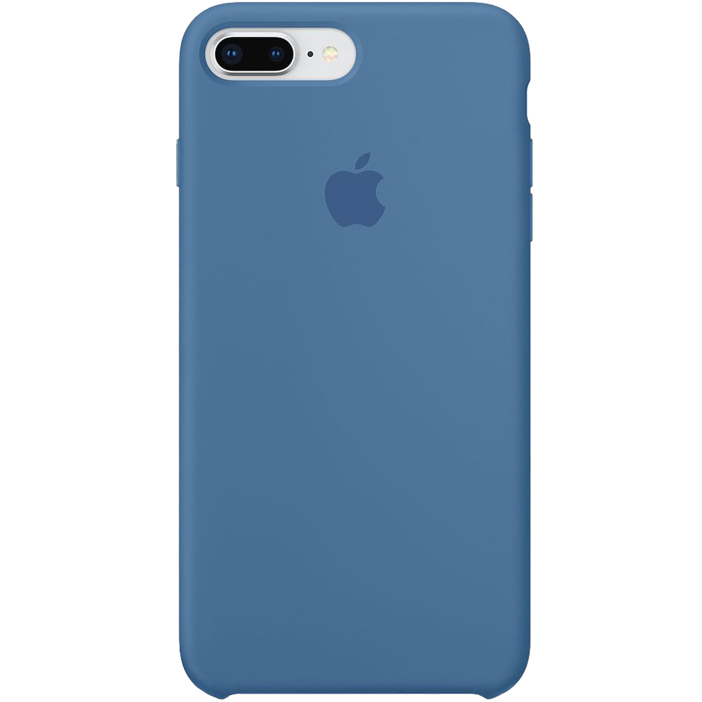 Husa originala din Silicon Denim Albastru pentru Apple iPhone 7 Plus si iPhone 8 Plus