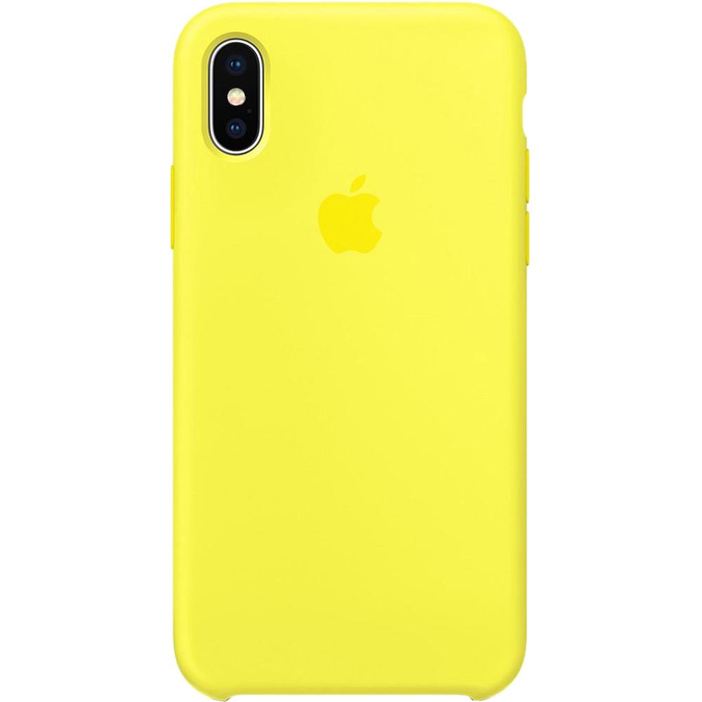 Husa Capac Spate Silicon Flash Galben APPLE iPhone X