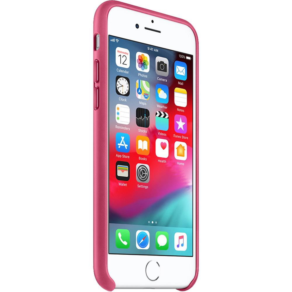 Husa Capac Spate Piele Fuchsia Roz Apple iPhone 7, iPhone 8