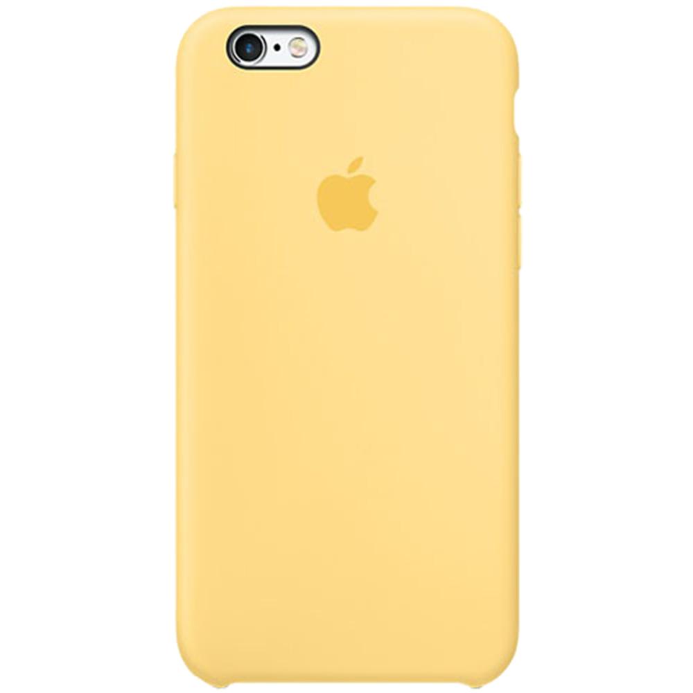 Husa originala din Silicon Galben pentru Apple iPhone 6 si iPhone 6s
