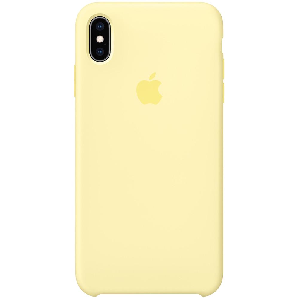 Husa originala din Silicon Galben pentru APPLE iPhone Xs Max