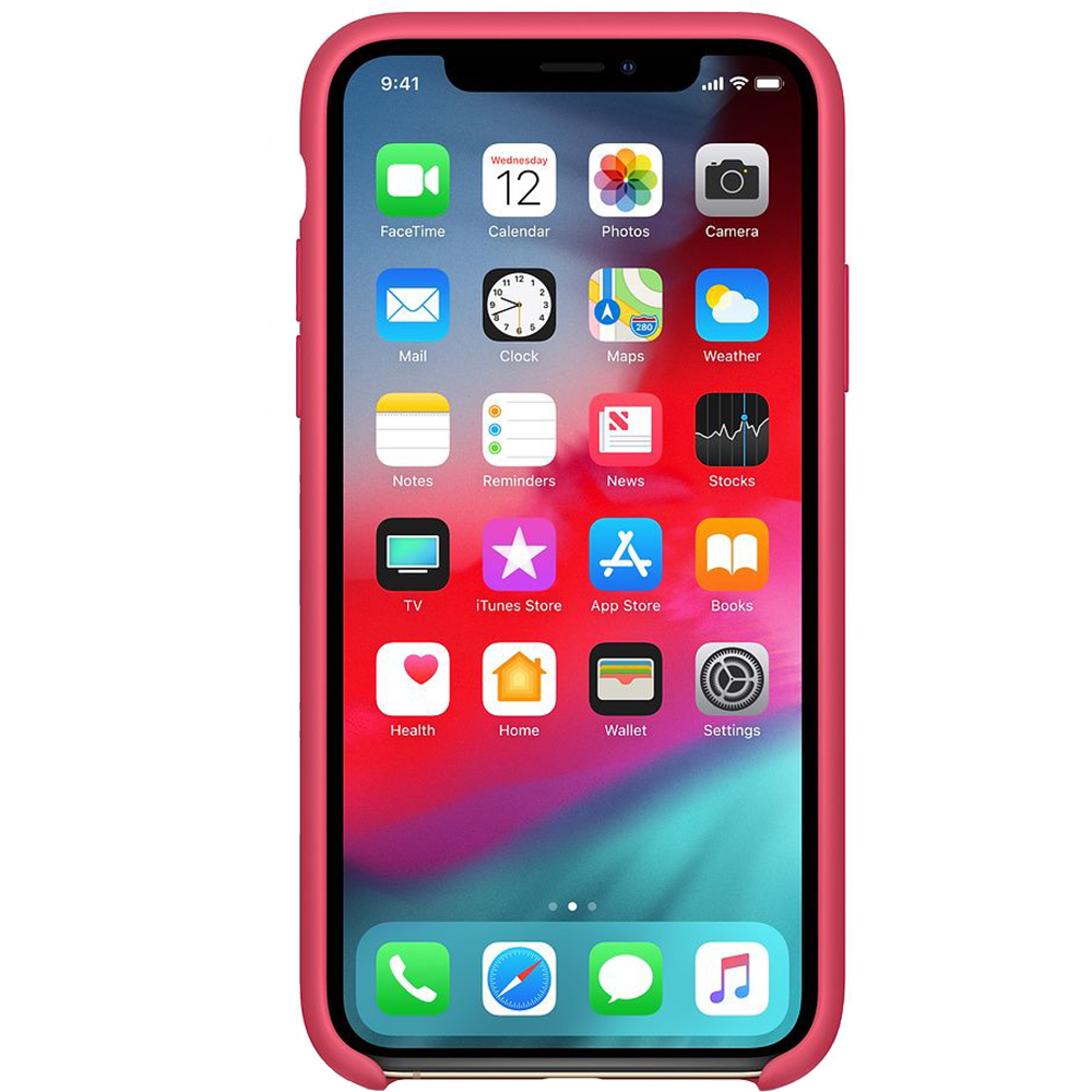 Husa Capac Spate Silicon Hibiscus Rosu APPLE iPhone Xs Max