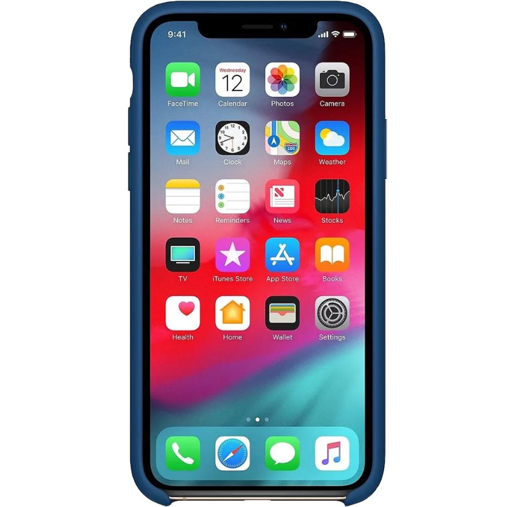 Husa originala din Silicon Albastru Horizon pentru APPLE iPhone Xs Max