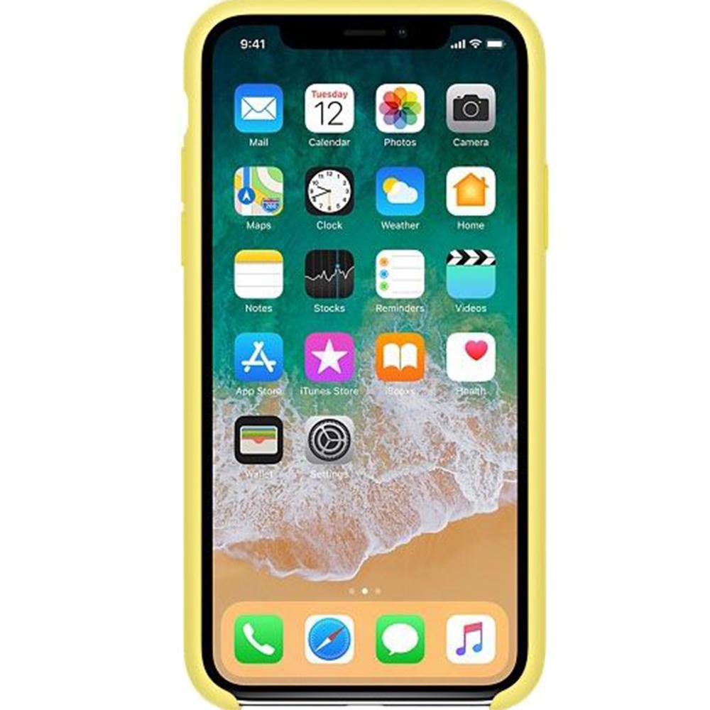 Husa Capac Spate Silicon Lemonade Galben APPLE iPhone X