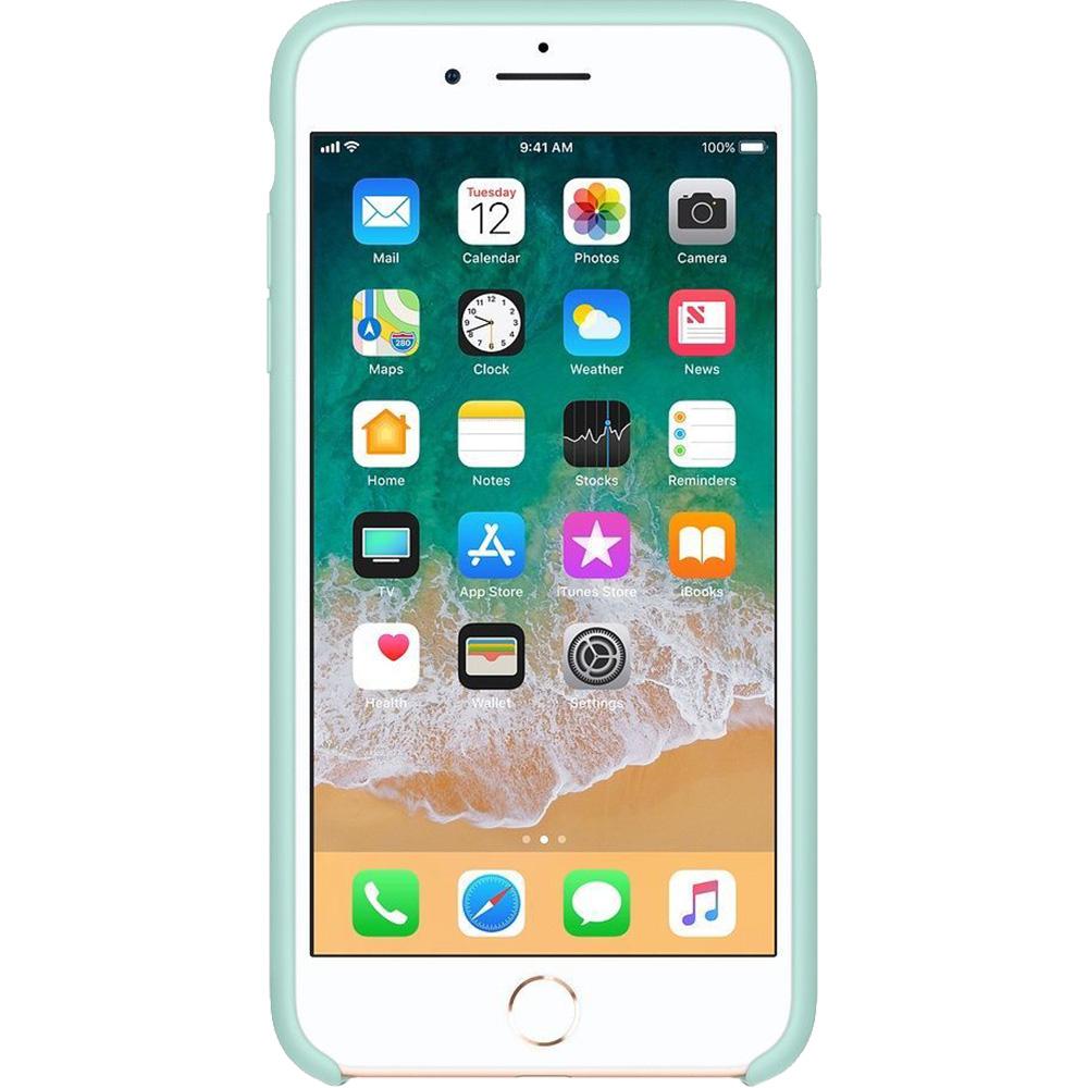 Husa Capac Spate Silicon Marine Verde APPLE iPhone 8 Plus