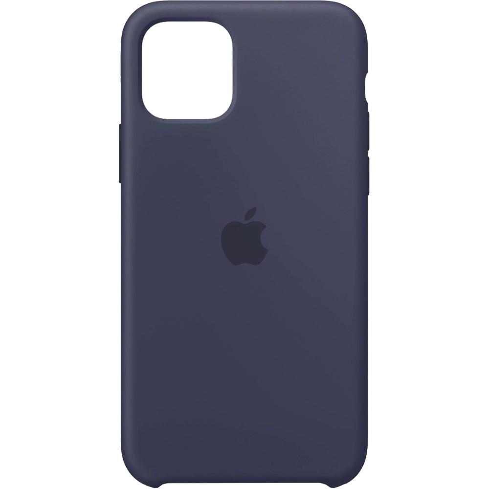 Husa originala din Silicon Midnight Albastru pentru APPLE iPhone 11 Pro Max