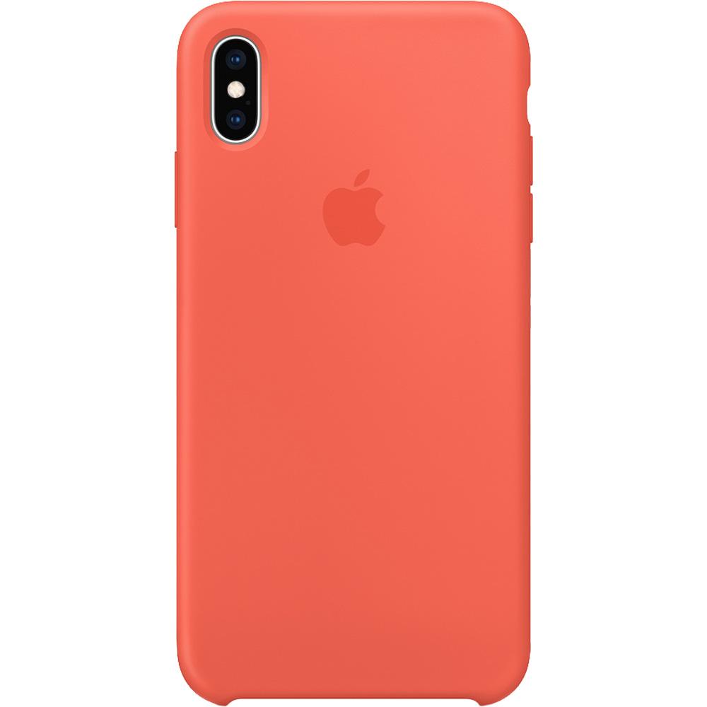Husa Capac Spate Silicon Nectarine Portocaliu APPLE iPhone Xs
