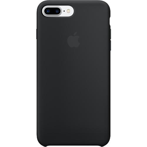 Husa originala din Silicon Negru pentru Apple iPhone 7 Plus si iPhone 8 Plus