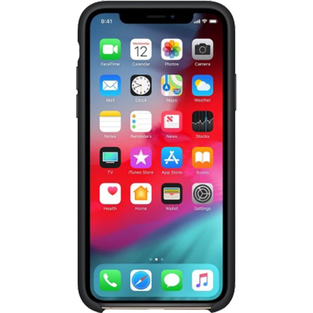 Husa Capac Spate Silicon Negru APPLE iPhone Xs