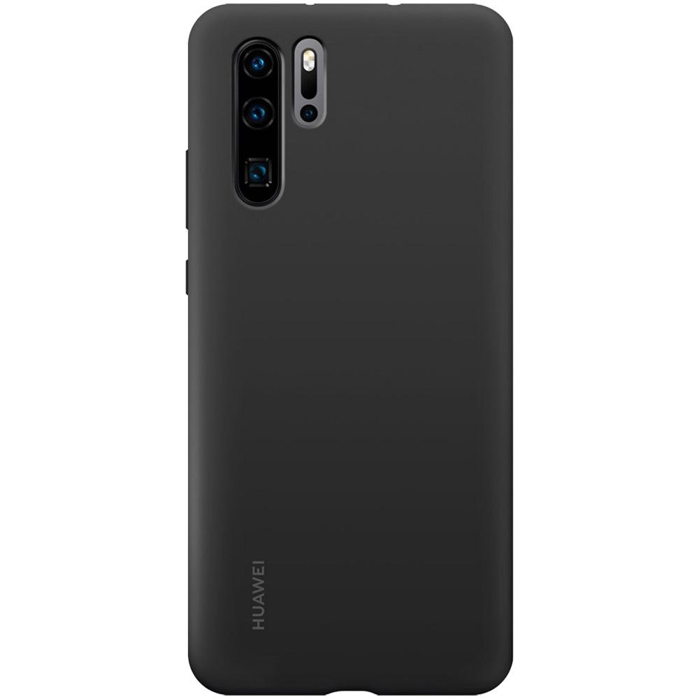 Husa Capac Spate Silicon Negru HUAWEI P30 Pro