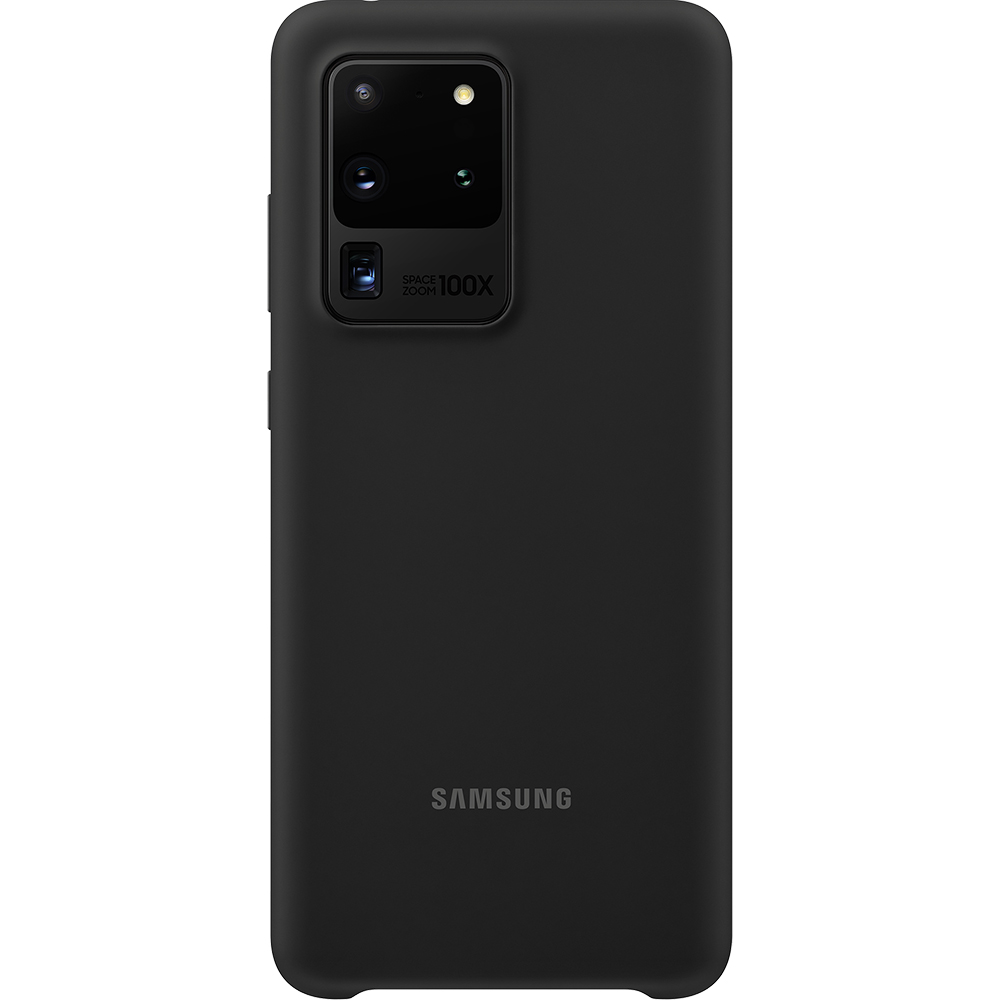 Husa Capac Spate Silicon Negru SAMSUNG Galaxy S20 Ultra
