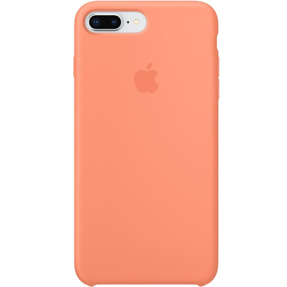 Husa originala din Silicon Portocaliu Peach pentru APPLE iPhone 8 Plus