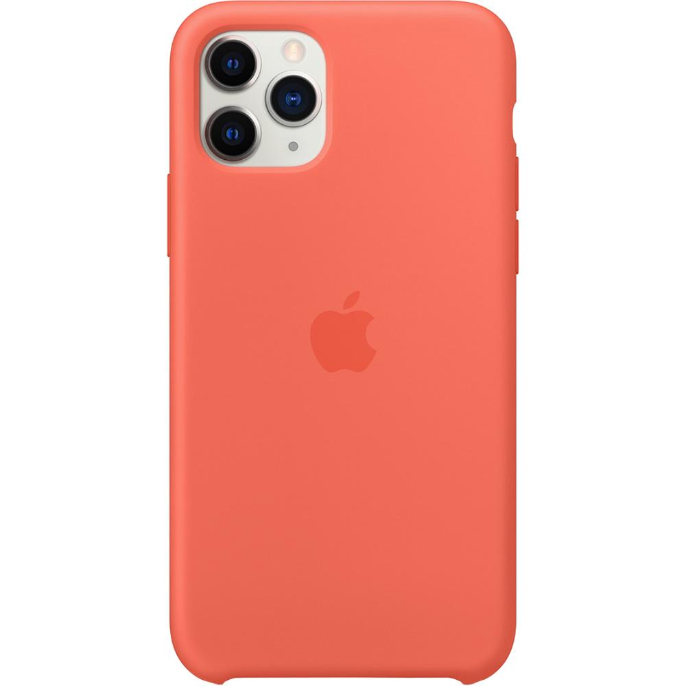 Husa originala din Silicon Portocaliu pentru APPLE iPhone 11 Pro Max
