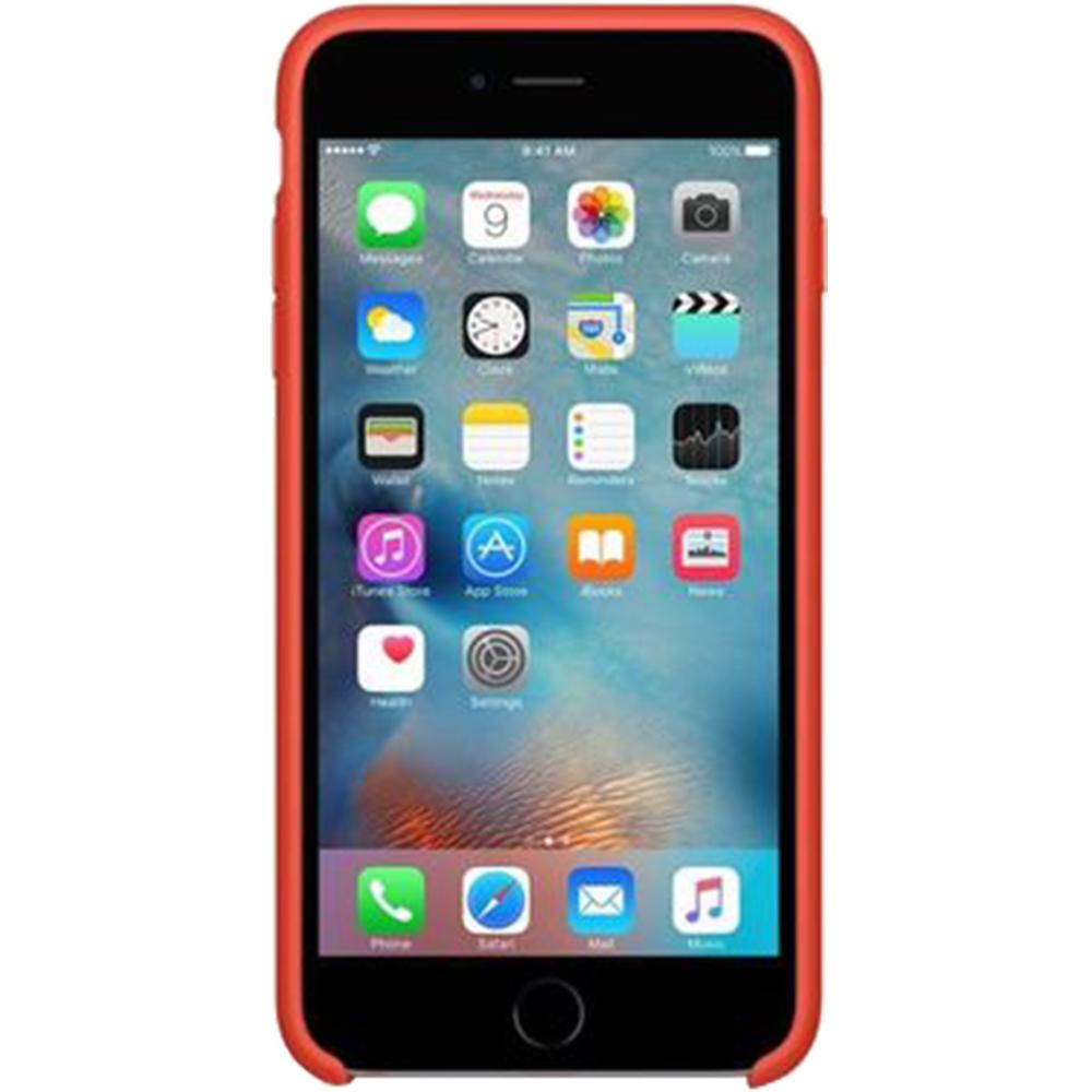 Husa Capac Spate Silicon Portocaliu APPLE iPhone 6S