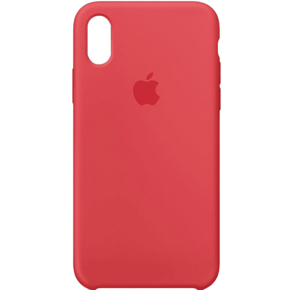 Husa originala din Silicon Raspberry Rosu pentru APPLE iPhone X si iPhone Xs