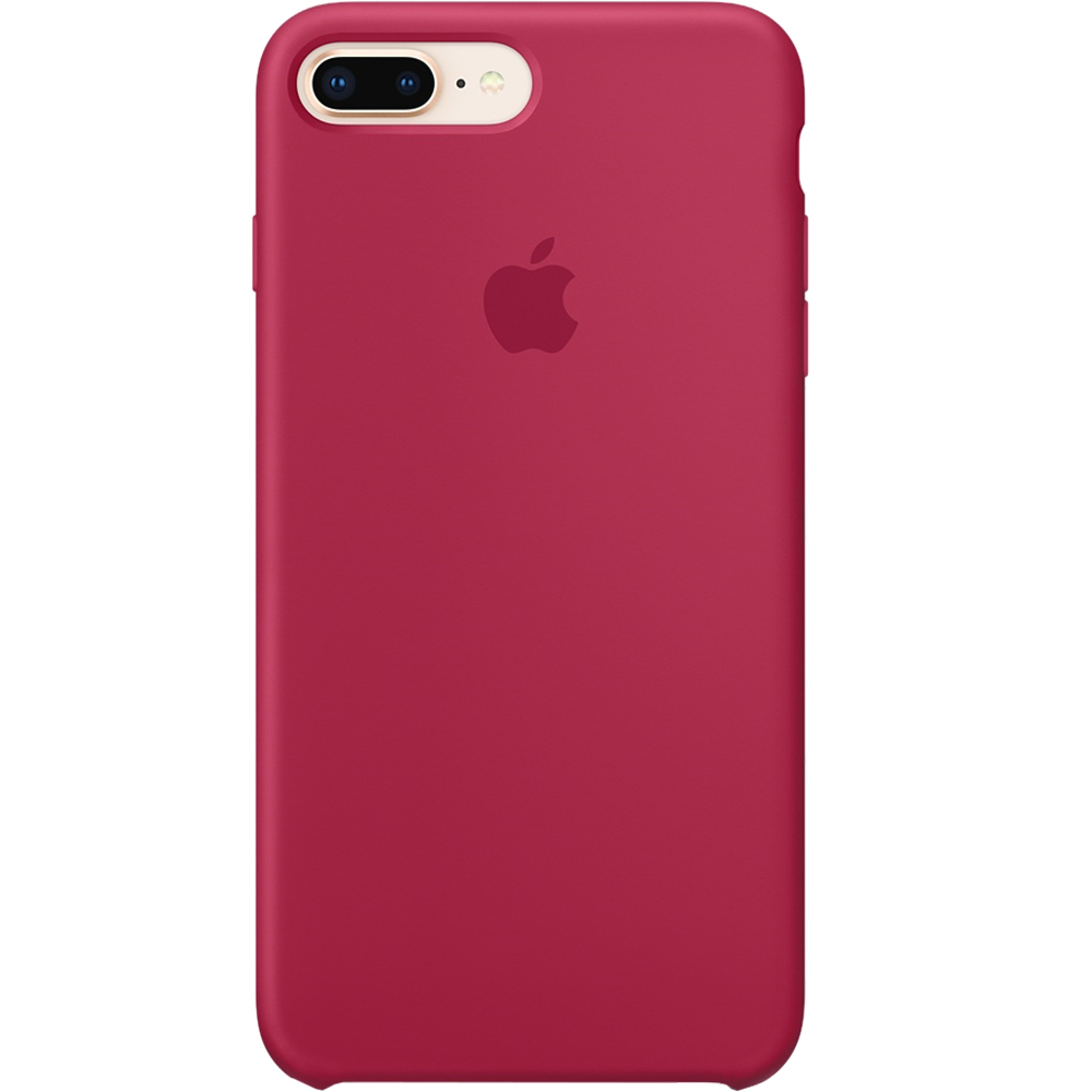 Husa originala din Silicon Rose Rosu pentru Apple 7 Plus si iPhone 8 Plus