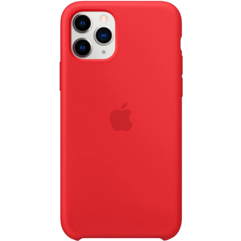 Husa originala din Silicon Rosu pentru APPLE iPhone 11 Pro Max