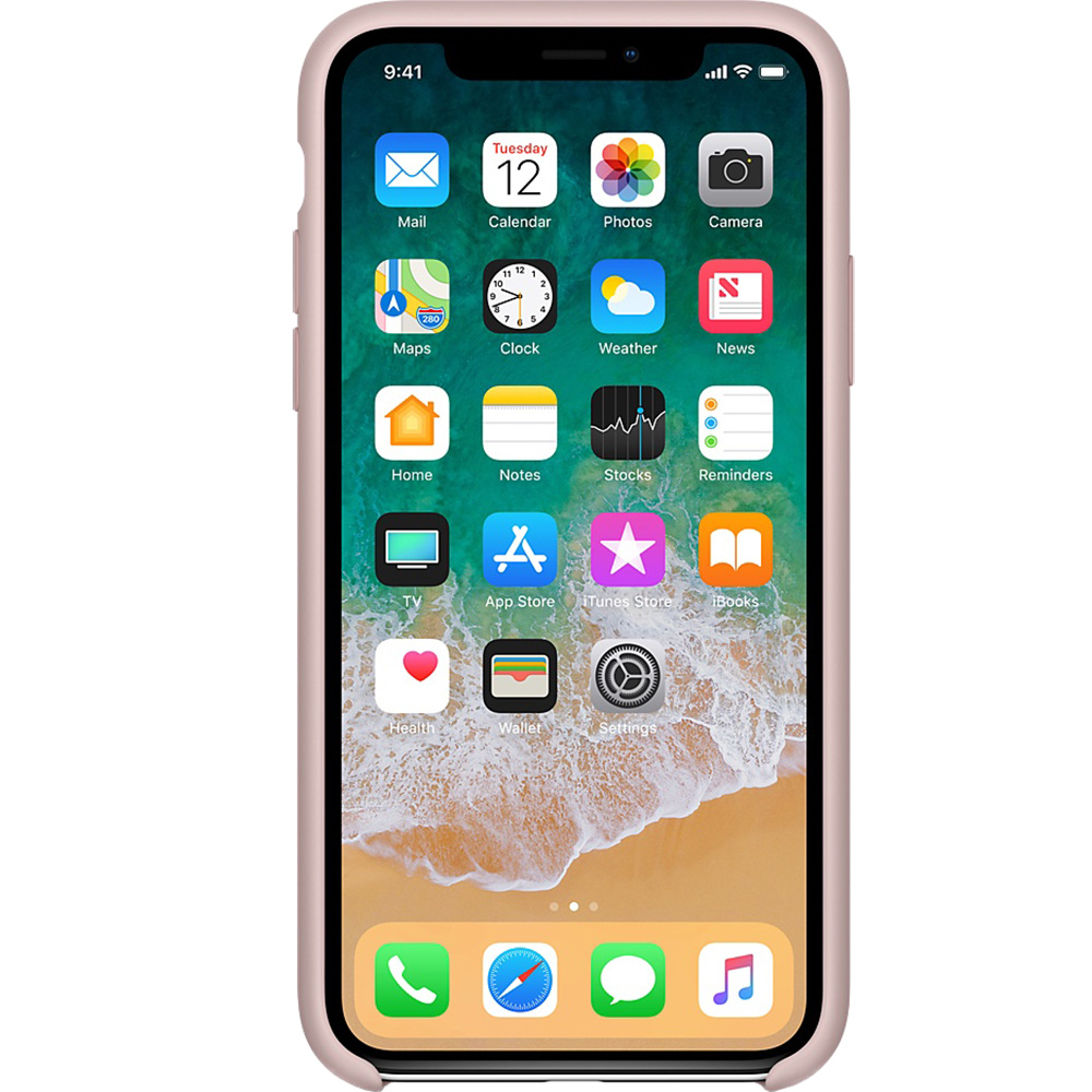 Husa Capac Spate Silicon Roz APPLE iPhone X