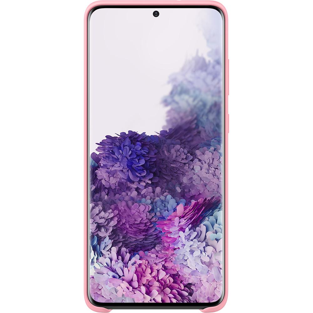 Husa Capac Spate Silicon Roz SAMSUNG Galaxy S20 Plus