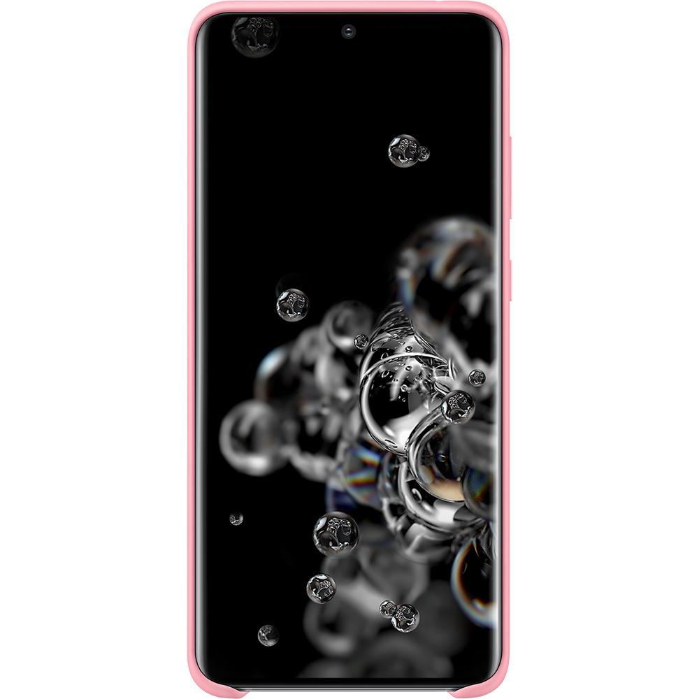 Husa Capac Spate Silicon Roz SAMSUNG Galaxy S20 Ultra