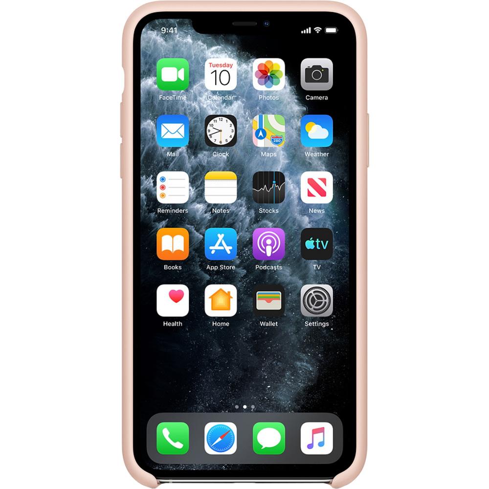 Husa originala din Silicon Sand Roz pentru APPLE iPhone 11 Pro Max