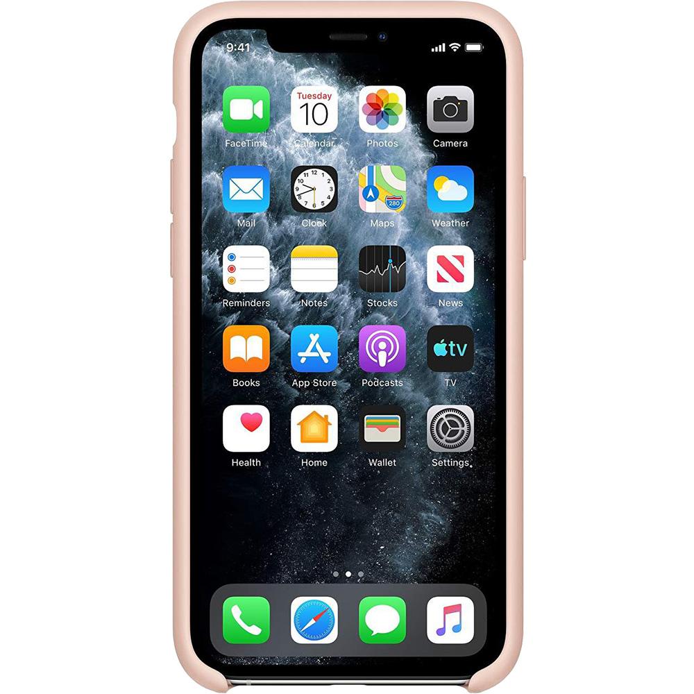 Husa originala din Silicon Sand Roz pentru APPLE iPhone 11 Pro