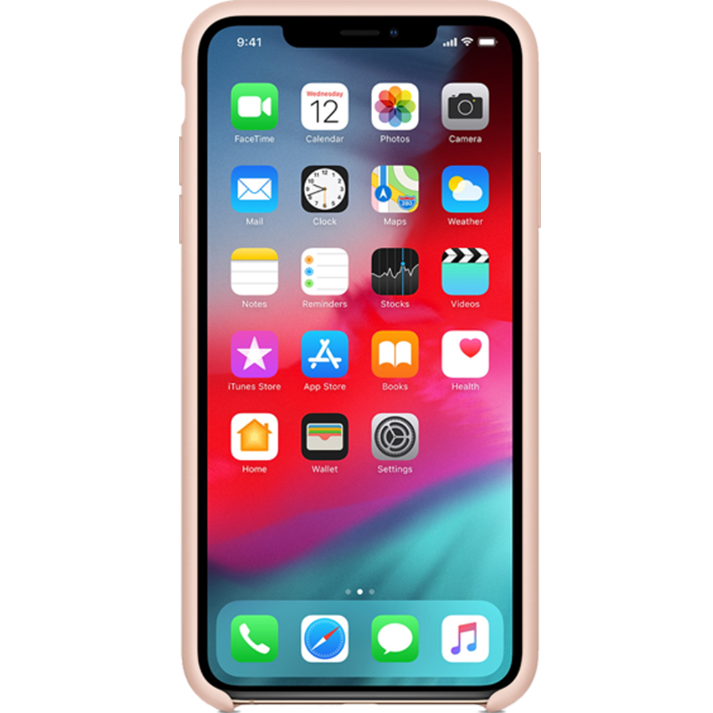 Husa Capac Spate Silicon Sand Roz APPLE iPhone Xs