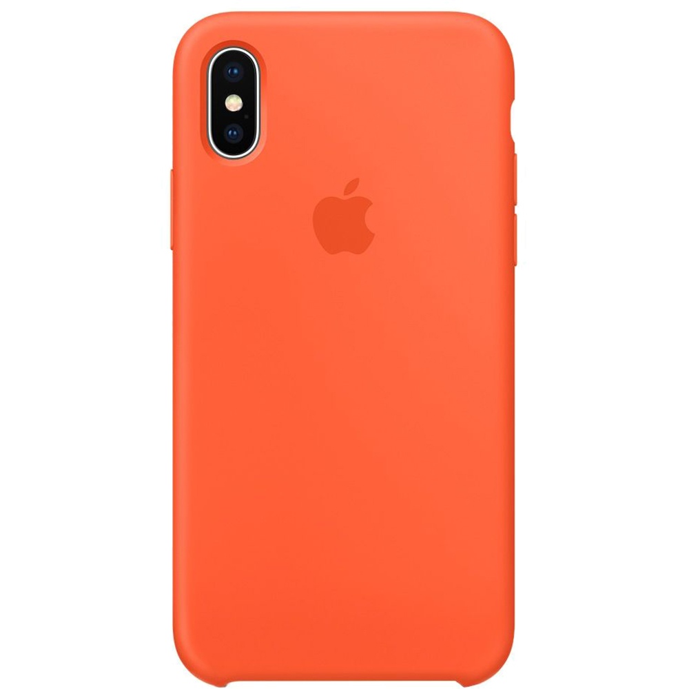 Husa Capac Spate Silicon Spicy Portocaliu APPLE iPhone X