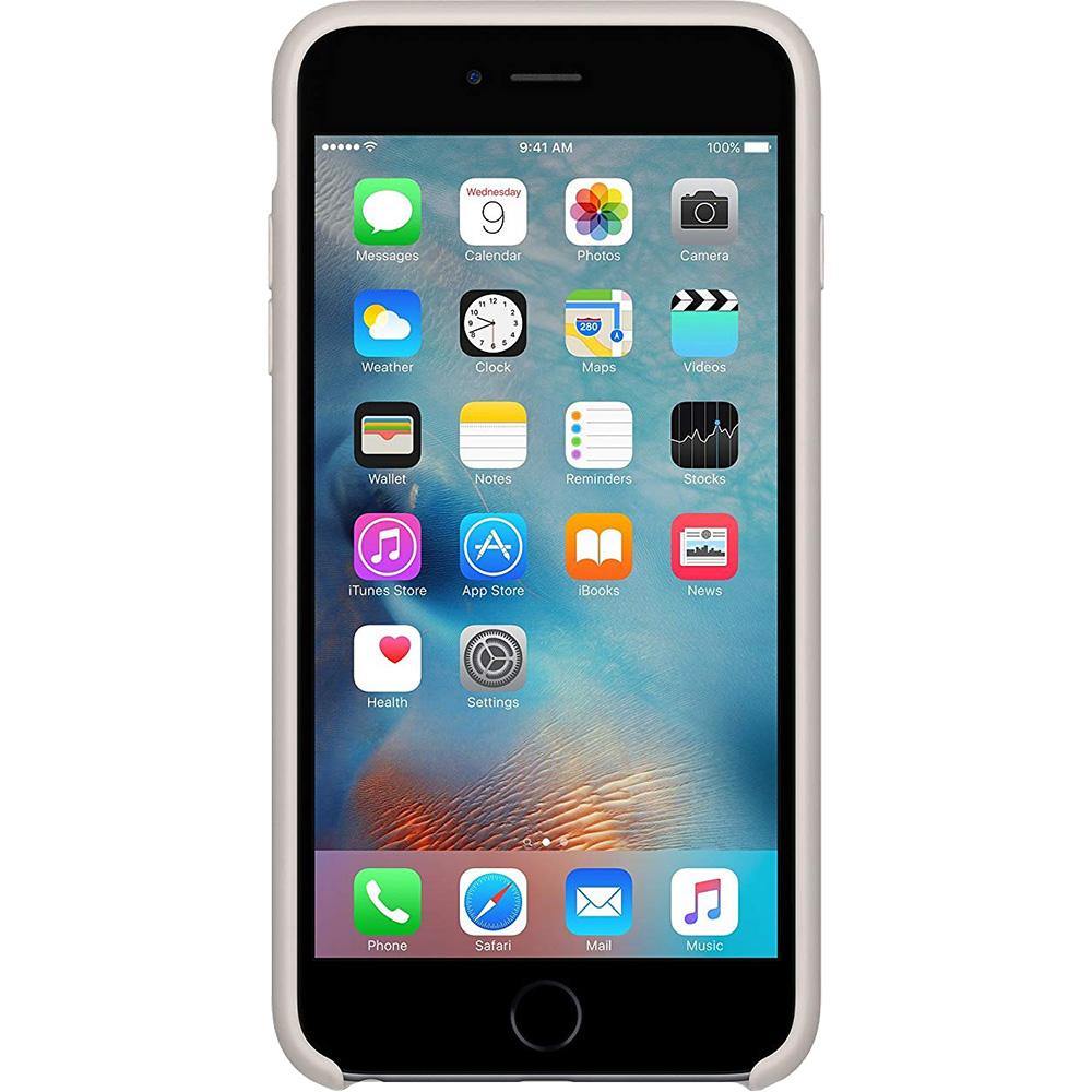 Husa Capac Spate Silicon Stone Gri APPLE iPhone 6S