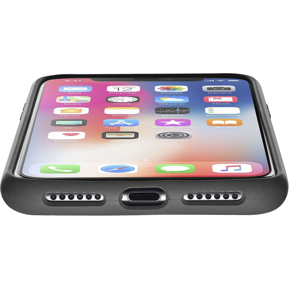 Husa Capac Spate Soft Touch Negru APPLE iPhone X, iPhone Xs