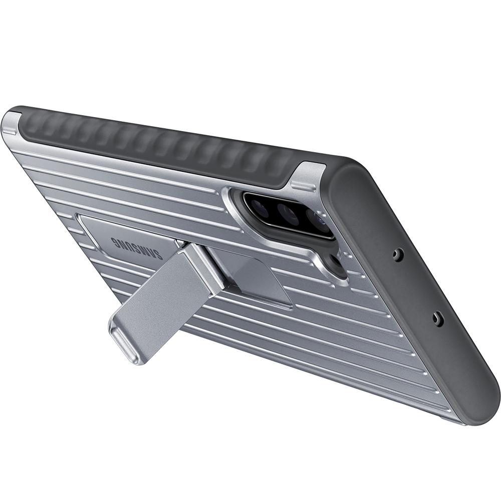 Husa Capac Spate Stand Argintiu SAMSUNG Note 10