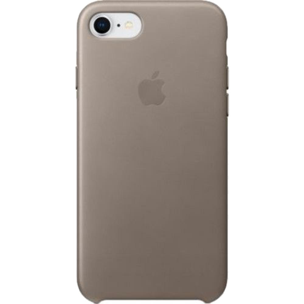 Husa originala din Piele Taupe Cream pentru Apple iPhone 7 si 8