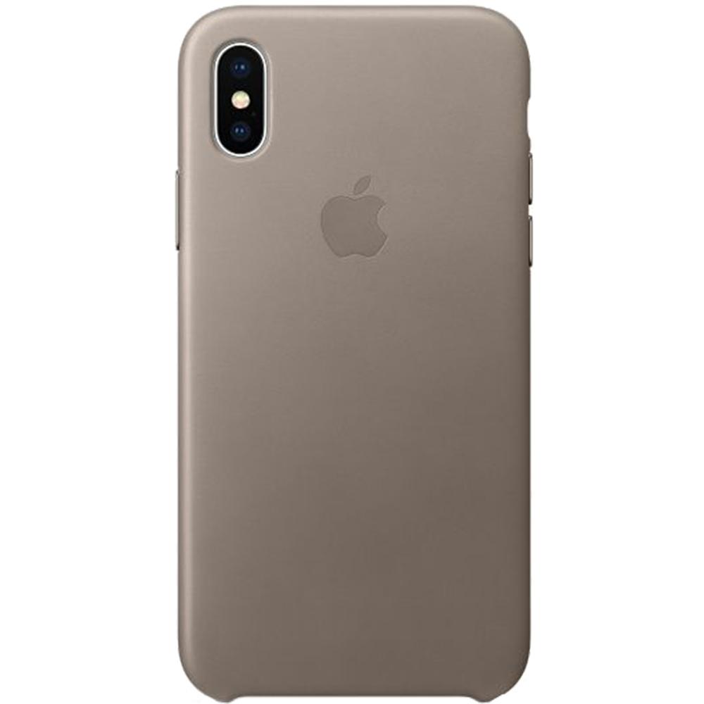 Husa Capac Spate Taupe Piele Gri APPLE iPhone Xs Max