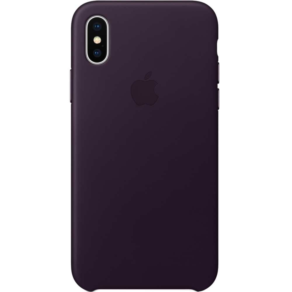 Husa Capac Spate Piele Violet APPLE iPhone X