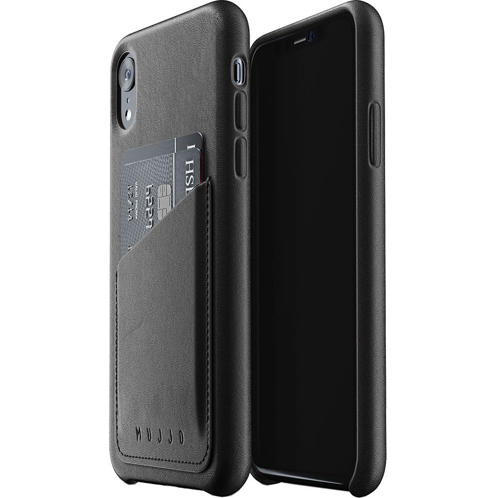 Husa Capac Spate Wallet Piele Negru APPLE iPhone XR