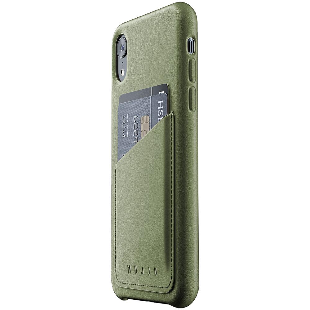 Husa Capac Spate Wallet Piele Verde APPLE iPhone XR