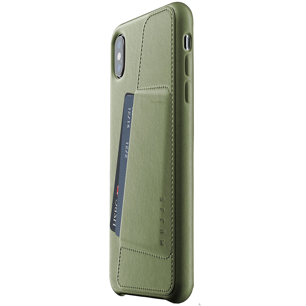 Husa Capac Spate Wallet Verde APPLE iPhone Xs Max