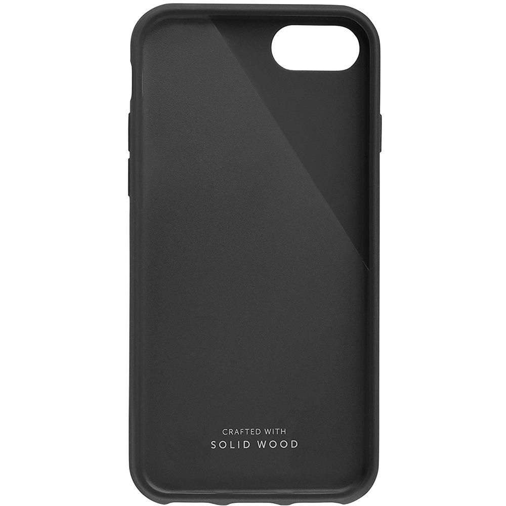 Husa Capac spate Walnut Wood Negru Apple iPhone 7, iPhone 8