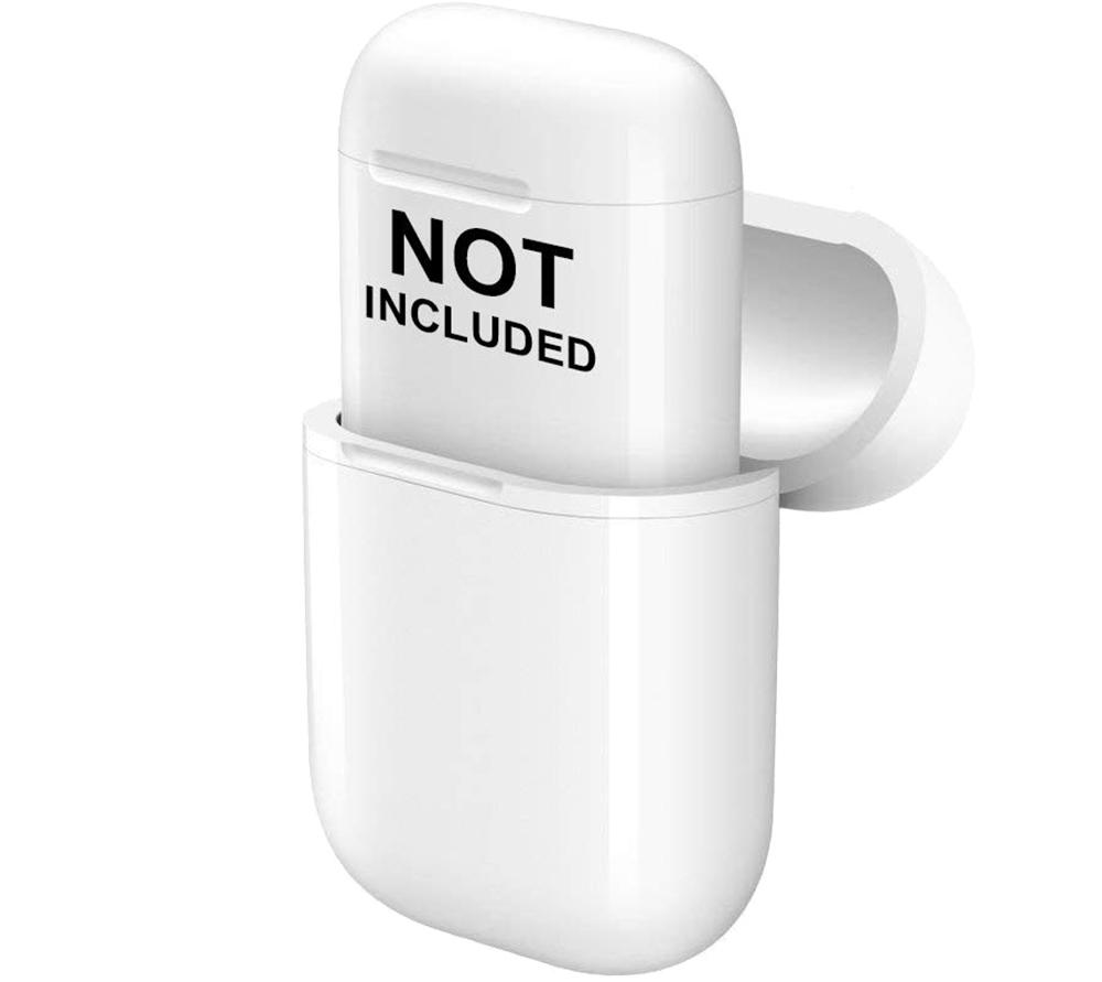 Carcasa  Wireless Charging Case pentru AirPods Generatia 1 si 2 Alb