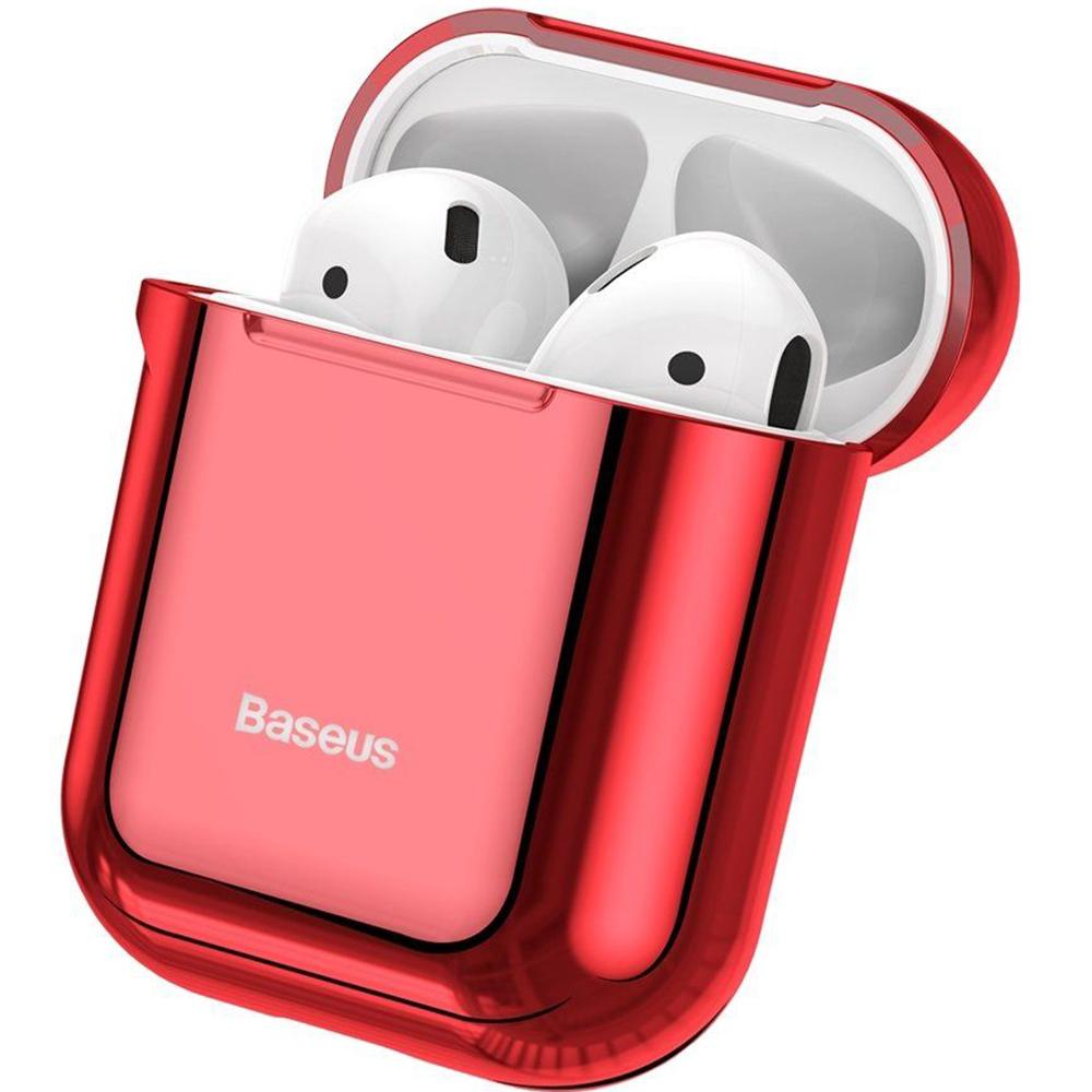 Husa De Protectie Shinning Hook Pentru Apple Airpods 1 si 2 , culoare Rosie