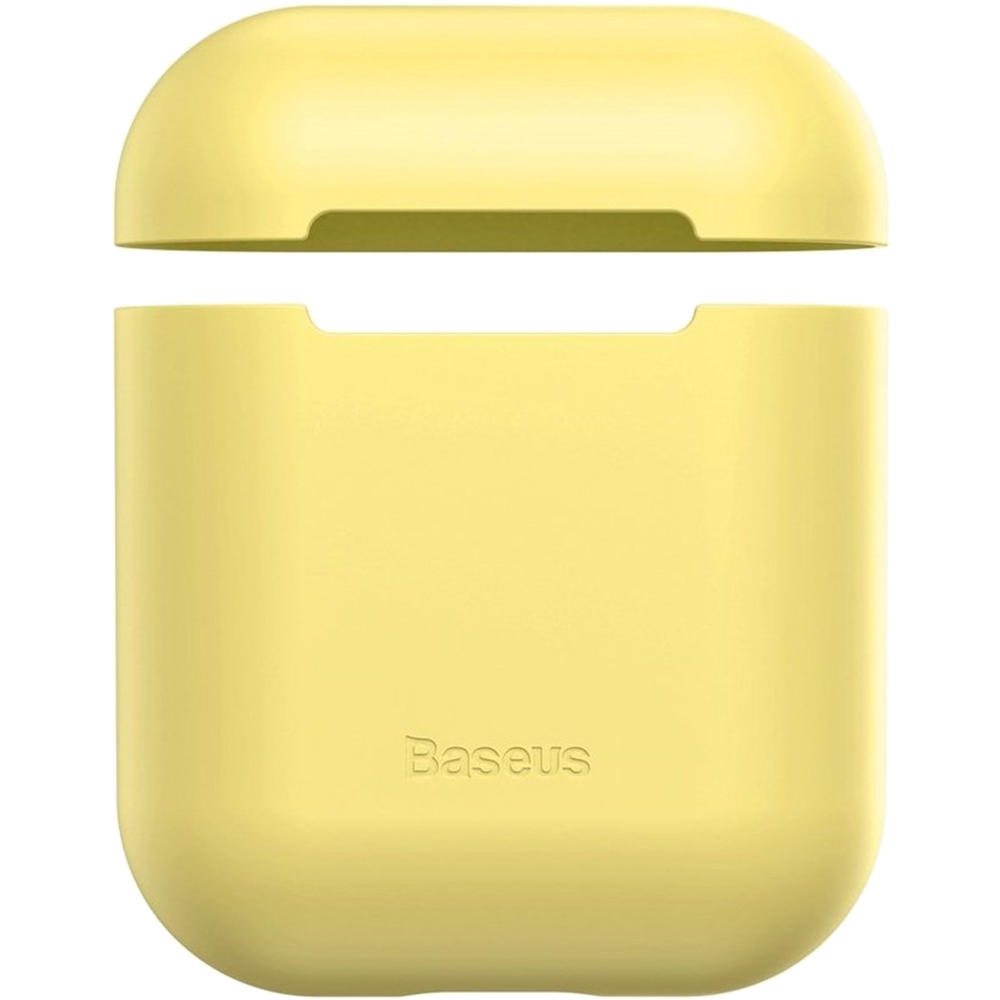 Husa De Protectie Ultrathin Silica Gel Pentru Airpods Galben