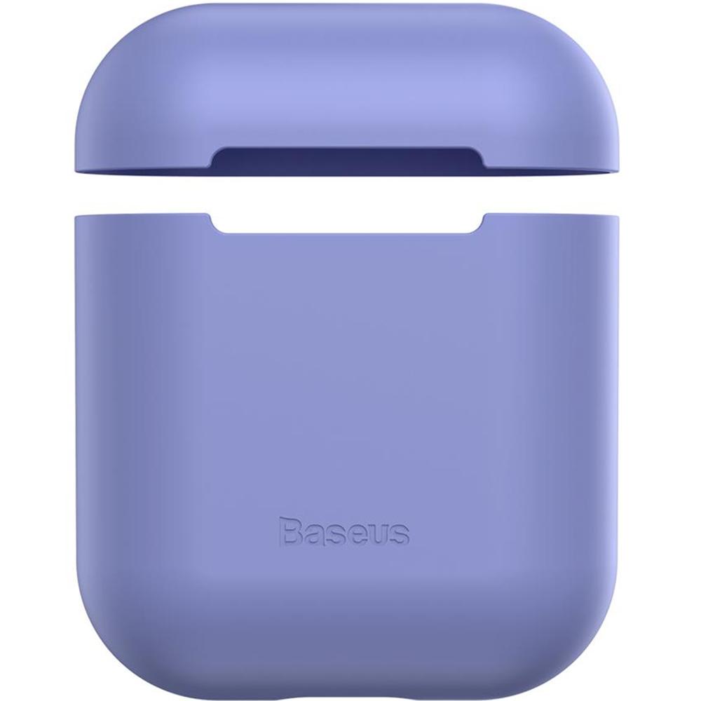 Husa De Protectie Ultrathin Silica Gel Pentru Airpods Violet